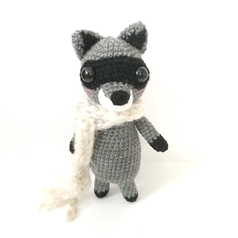 Amigurumi Raccoon : Raccoon Plush Amigurumi Raccoon Crochet Raccoon Toy Raccoon