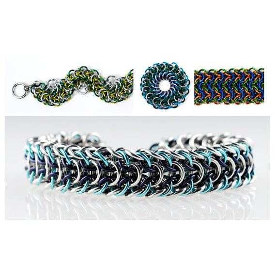 Basket Weave Chainmaille Tutorial : Chainmaille tutorial elfweave variations advanced