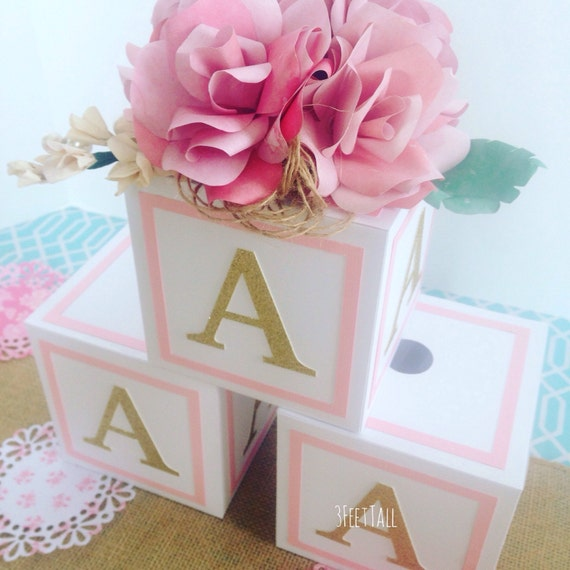 large 4 5 in alphabet blocks baby shower decorations 4 5 inches x 4