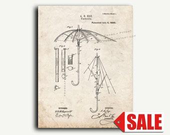 Patent Art - Umbrella Patent Wall Art Print