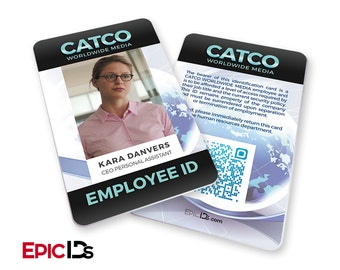 "Supergirl TV Series Inspired ""Kara Danvers"" CATCO Worldwide Media Employee ID"