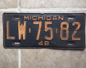 1949 Michigan Automobile Transportation License Plate