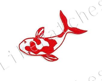 Beautiful Fancy Carp, Fish, Mirror Carp Sew / Iron on Patch Embroidered Applique Size 9.2cm.x6.2cm.