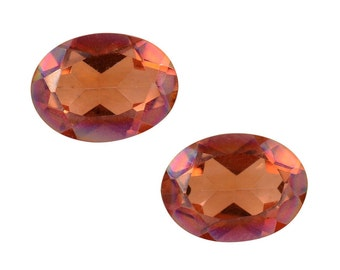 Mystic Twilight Topaz Oval Cut Loose Gemstone Set of 2 1A Quality 8x6mm TGW 2.10 cts.