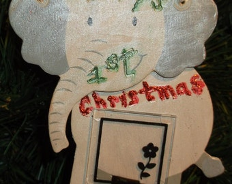 An Elephant Ornament for Baby's First Christmas