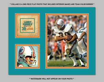 MIAMI DOLPHINS - Larry Csonka - Digital Photo Collage - available in sizes 8x10 11x14 or 16x20 - NFL Football Sports Picture Print