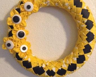 Bumblebee Fabric Wreath