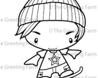 The Greeting farm-skater Ian rubber stamp