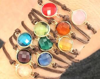 September Birthday-Simple Birthstone Jewelry-Minimal Gemstone Bracelets-Birthstone Bracelet-Dainty Birthstone Bracelets-Charm Bracelet