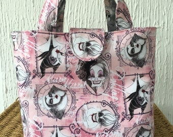 Disney Villains print reversible tote