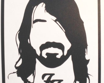 Dave Grohl Foo Fighters Decal/Sticker
