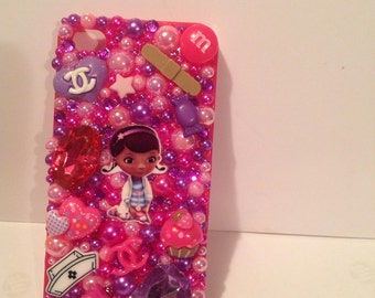 Bling iphone 4 phone case kawaii kitsch doc