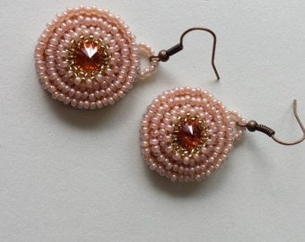 Beaded eaarings brown