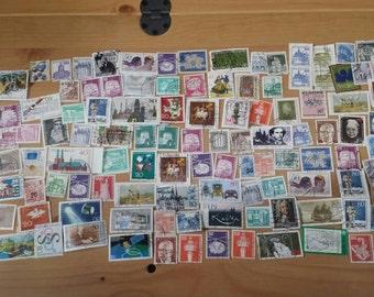 Lot#4 of 200+ Vintage Bundespost Bundes Post Deutsche German Stamps Deutsches Demokratisches Republik from the 1950s-1980s