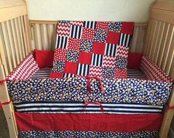 Baseball Baby Bedding - Baseball Crib Bedding - Custom Baby Bedding - Baby Bedding, Baby Crib Sets - Custom Crib Bedding - Boy Baby Bedding