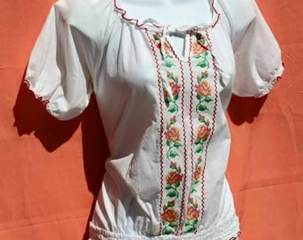 1950's Sweet Señorita Peasant Top