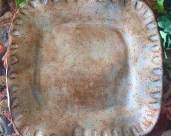 Decorative Stoneware Pottery Plate