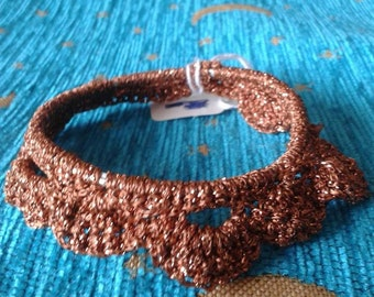 Sparkly Crocheted Bangle