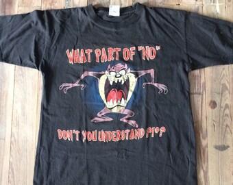 Distressed super soft burnout Taz t shirt