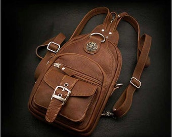 Leather Backpack,K05D28