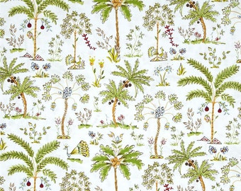 Palm Trees in White, Haute Girls Collection by Dena Designs for Free Spirit 4169