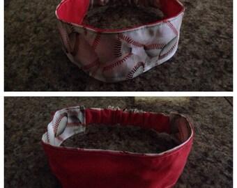 Adult baseball reversible fabric headband/hairband/hair accessory
