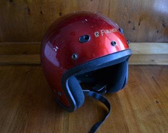 Vintage 70's Red Metalflake Fulmer Helmet