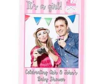 Baby Shower Prop | Baby Shower Gift | Its A Girl Prop | Baby Boy Shower Photo Booth Prop | Baby Shower Selfie Frame Cutout | PhotoBooth
