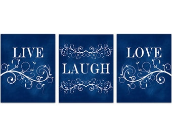 Live laugh love black and white quote print flower burst for Live laugh love wall art