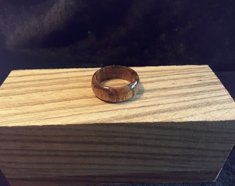 Ready to ship / African Zebra Wood Ring. Size 11