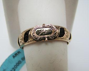 Stunning Victorian Memorial Woven Hair Ring in 14k Rose Gold