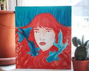 Mermaid | Original Painting on Wood