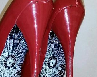spiderweb heels etsy