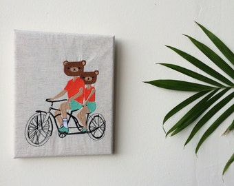 Tandem gentle couple embroidery