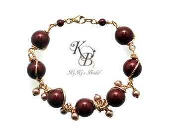 Wire Wrapped Bracelet, One Of A Kind Bracelet, Bridal Bracelet, Bridesmaid Bracelet, Wire Wrapped Bracelet, Bridal Jewelry, Wedding Jewelry