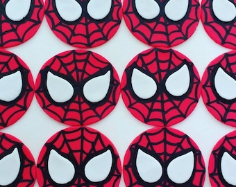 Spiderman Cupcake Toppers (assorted quantities)