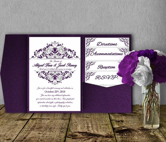 Purple And Silver Wedding Invitations 028 - Purple And Silver Wedding Invitations