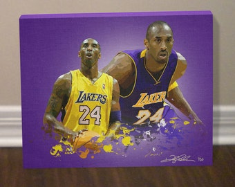 KOBE BRYANT Los Angeles LAKERS Canvas Art Print - Free Shipping within the United States. !!