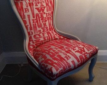 Red Alphabet Chair