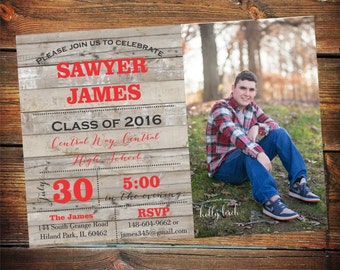 High School Graduation Party Invitation, Graduation Party Invitation, high school graduation party invitations, Graduation Announcement Male