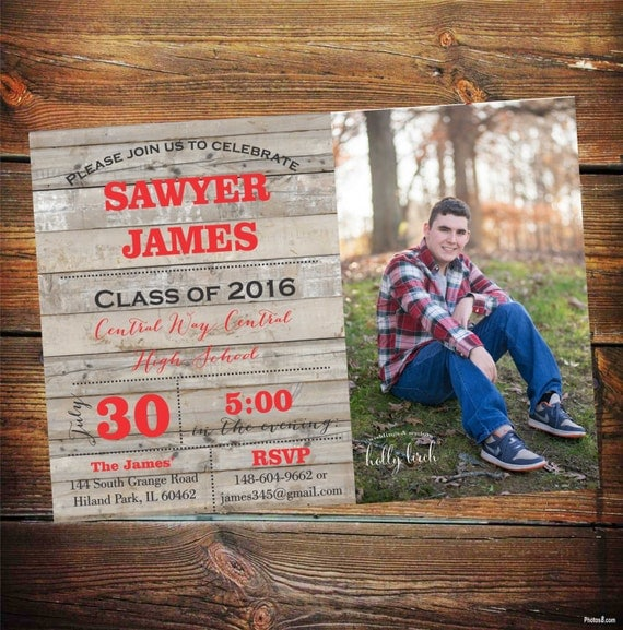 High school graduation party invitation graduation party invitation il570xn filmwisefo
