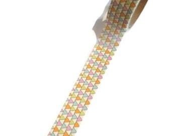 WASHISAMPLE 1,5 cm wide la de dah sample with triangle, modern pattern washi from la de dah