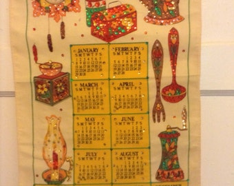 Vintage 1989 Colorful Calendar