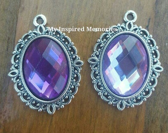 Sofia the first inspired amulet, sofia the first inspired pendant,  sofia the first purple amulet