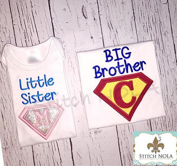 Super Hero BIG/LIL Sister/BROTHER Shirt or Bodysuit