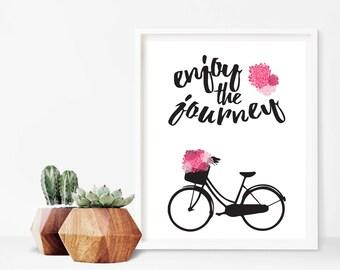 Enjoy The Journey Bicycle Print Digital Sign