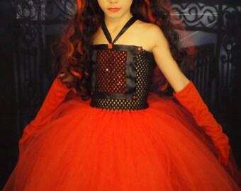 Devil costume, Devil tutu dress, vampire tutu dress. Halloween costume,OOC,theme wear 0-12years