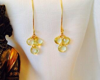 Lemmon citrine earrings