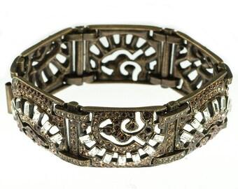 Sweet Romance Brown Rhinestone Bracelet