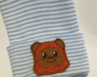 Newborn Hospital Hat. Brown Mask Newborn Beanie. Choice of Hat Colors.  Baby Newborn Hats.  Newborn Baby Hats. Great Gift!